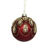 Cherry Red Gisela Graham bauble