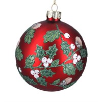 Matt Red Gisela Graham bauble