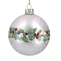 Matt white Gisela Graham bauble
