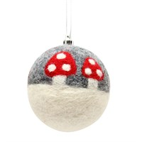 Toadstool Gisela Graham bauble