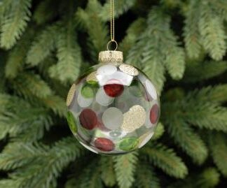 Clear tree decoration