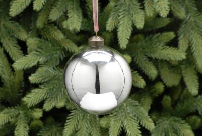 Large Silver Bauble