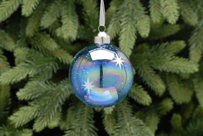 Blue bauble with snowflake