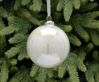 Large Silver Glitter Bauble